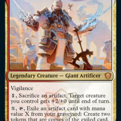Osgir, the Lorehold Commander, is a professor who teaches about historical military weapons from the world of <em>Magic: The Gathering</em>.