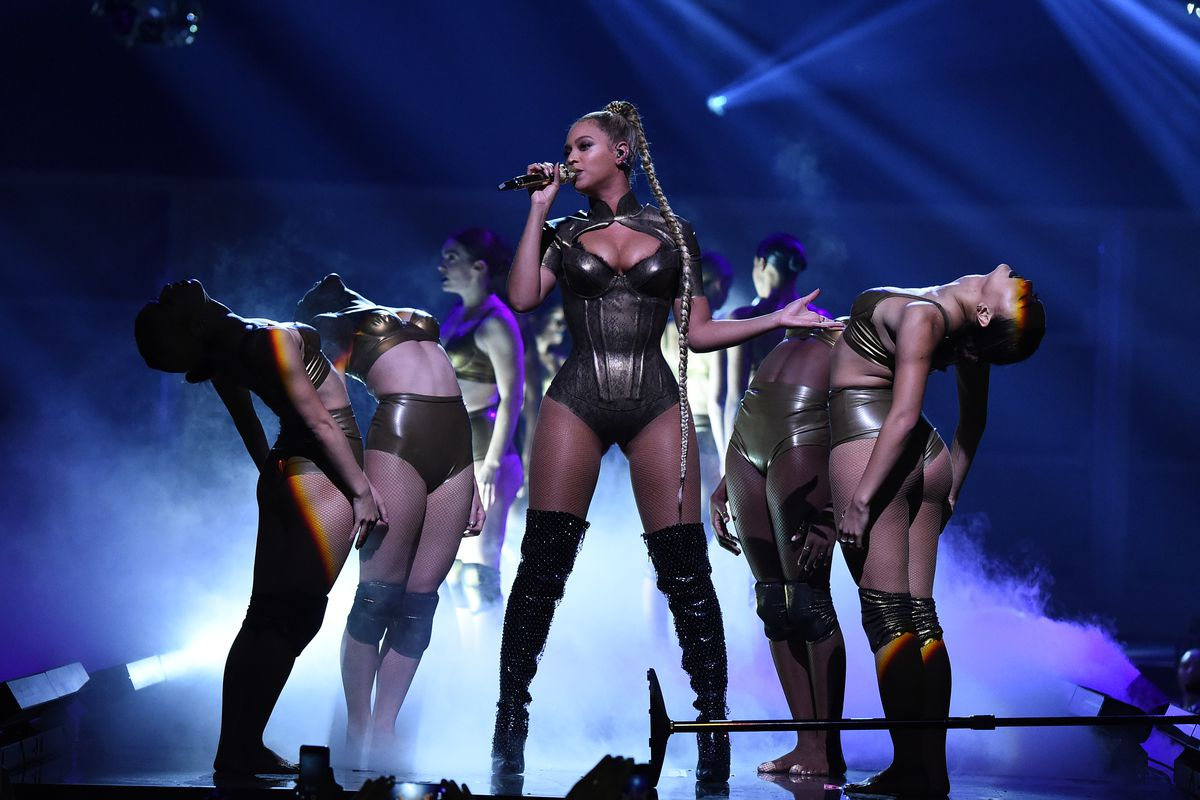 Beyonce performs onstage on October 15, 2016 in New York City.