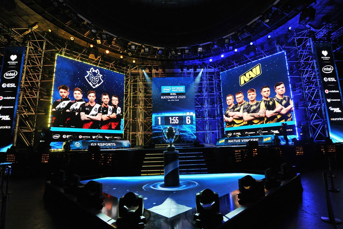 View on the stage during Counter-Strike: Global Offensive Final game between G2 Esports and Natus Vincere during ESL Intel Extreme Masters 2020 at Spodek Arena on March 1.