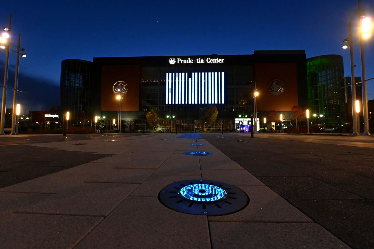 Landmarks And Stadiums Across The Country Illuminated In Blue To Honor Essential Workers