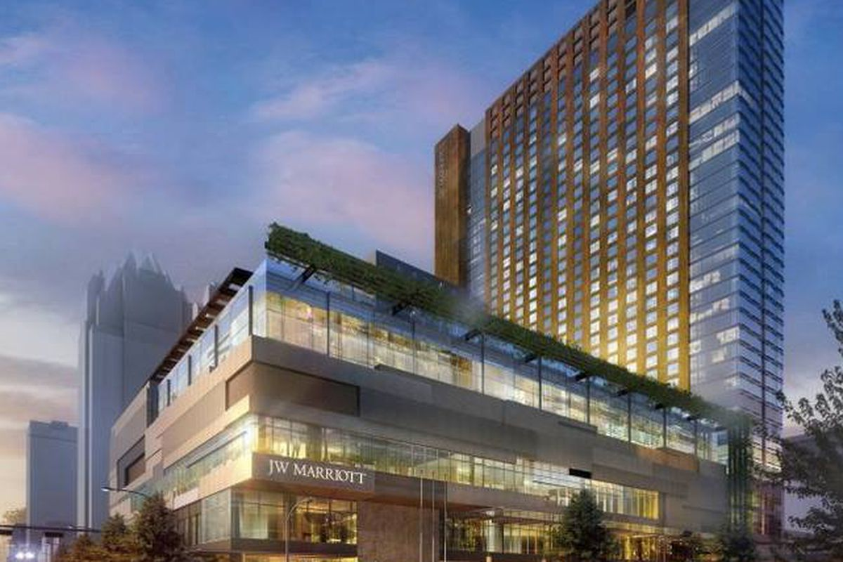 The Most Dramatic New Addition To Austin S Booming Hotel Market Has Released Details On Their Three Restaurants When Jw Marriott Opens In February