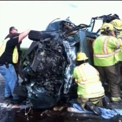 Those who were at the scene of a critical accident last Sunday morning heard a prayer that seemed to save a 19-year-old girl's life.