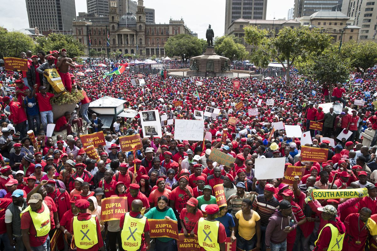 Anti-Zuma Protests in South Africa