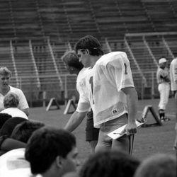 1985 bleachers-Quarterback Eric Thomas # 1 - Tallahassee, Florida.