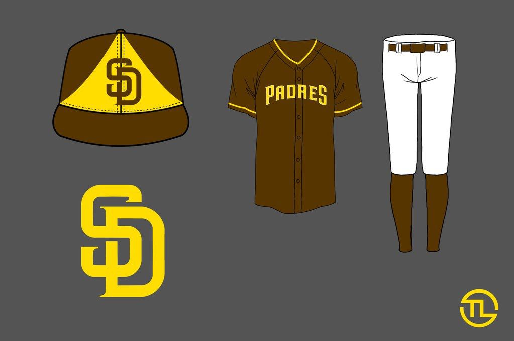 Padres jersey redesign home alternate brown gold