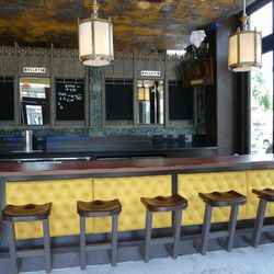 The bar is adjacent to the bakery, and features custom flat screens meant to look 1930s-era appropriate, as well as bulletins from the Philadelphia Convention Center — hence, the name.