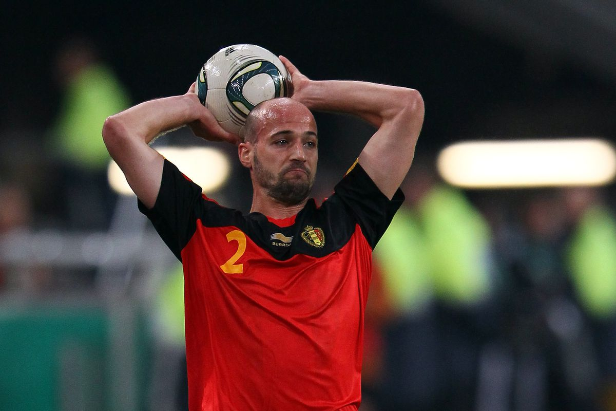 Laurent Ciman playing for Belgium in a EURO 2012 qualifying game.