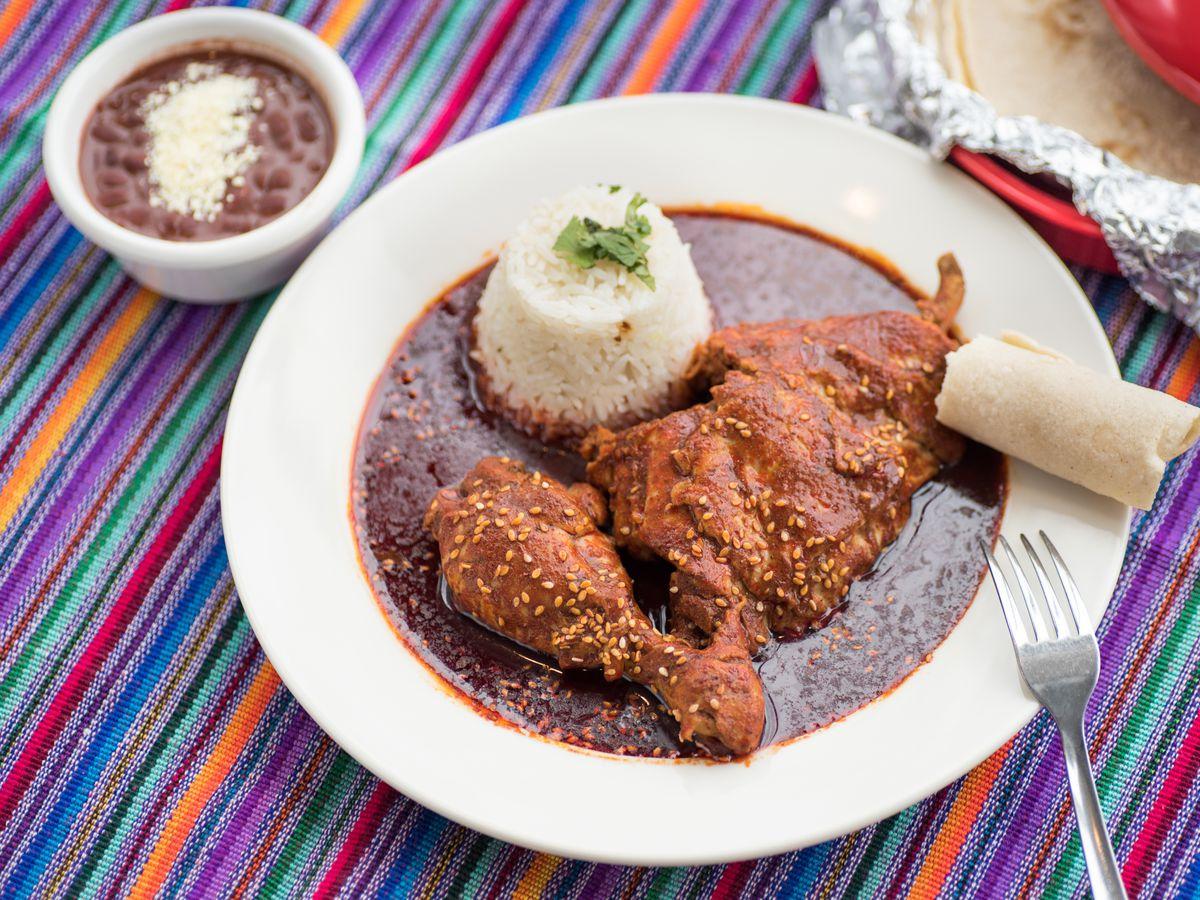 Chicken mole Poblano at Benito's Place