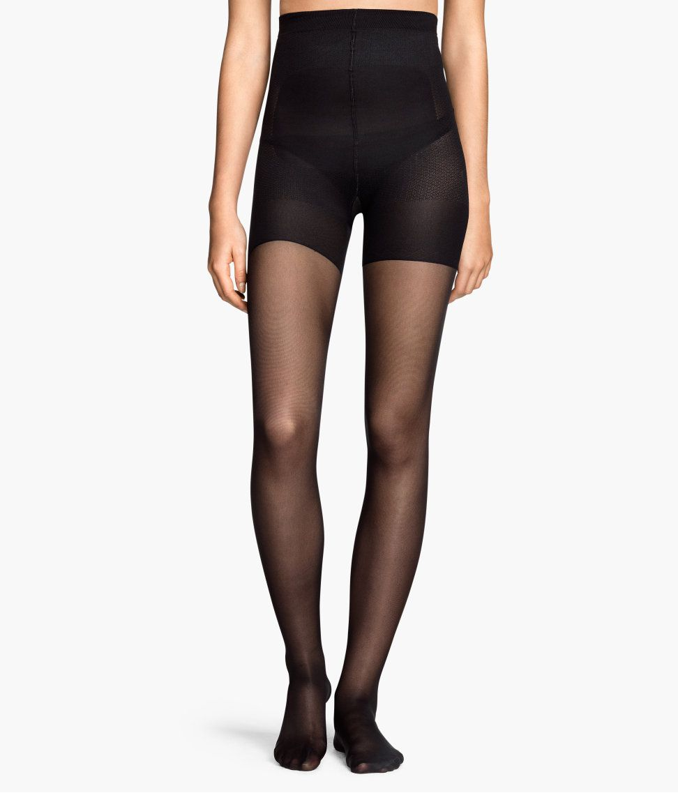 99ecf86a5fb H M semi-sheer tights on a model.
