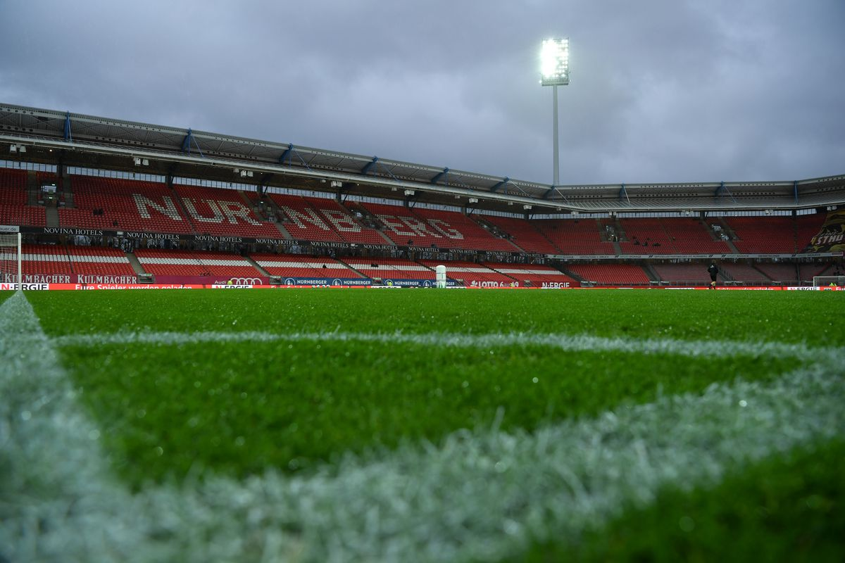 A general view of the stadium prior to the Second Bundesliga match between 1. FC Nürnberg and Hannover 96 at Max-Morlock-Stadion on March 06, 2020 in Nuremberg, Germany.