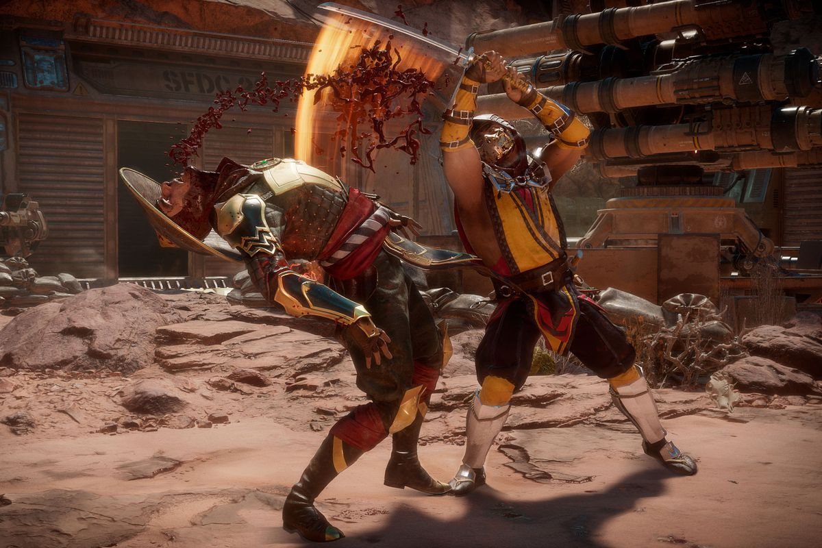 Mortal Kombat 11 - Raiden fights Scorpion