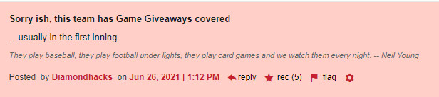 Sorry ish, this team has Game Giveaways covered …usually in the first inning (5 recs)