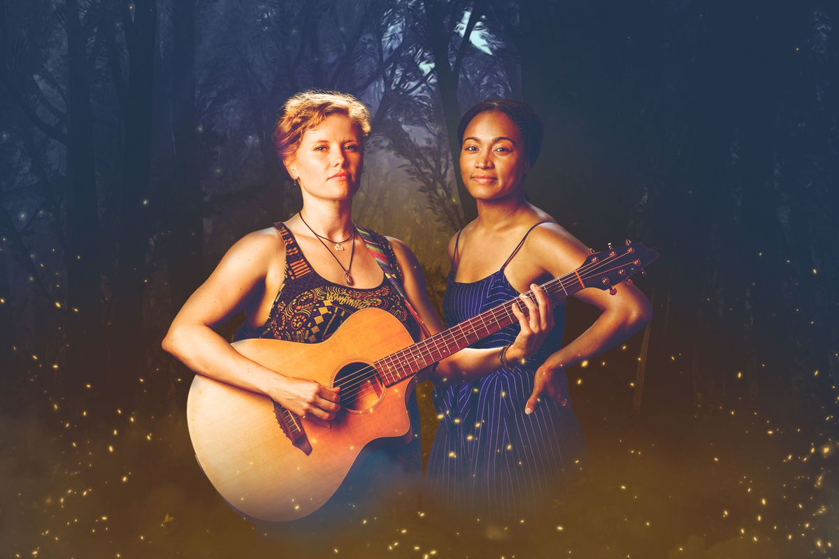 """Liz Chidester (left) and Diana Coates star in Raven Theatre's Chicago premiere of """"Sundown Yellow Moon."""""""