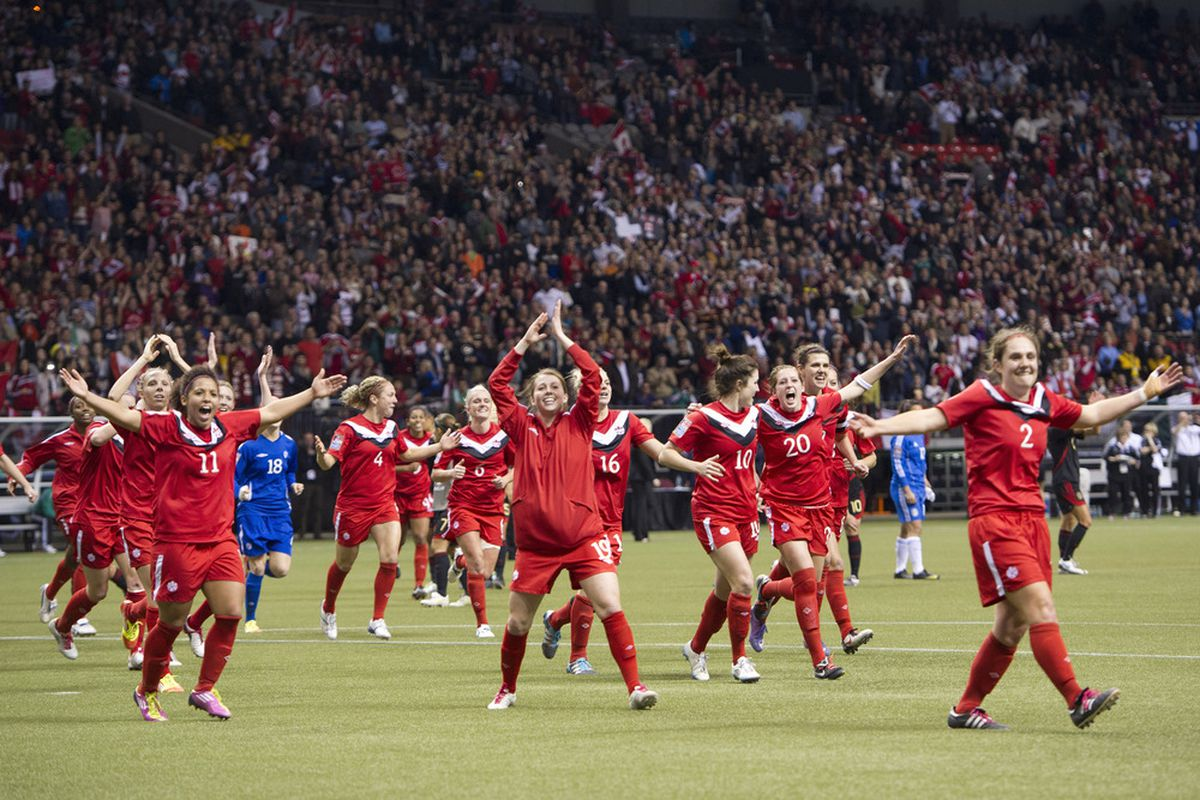 Canada v Mexico in BC Place. good times.