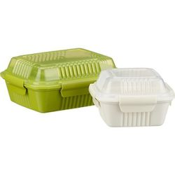 """<b>Crate & Barrel</b> To-Go Containers, <a href=""""http://www.crateandbarrel.com/organizing-and-storage/food-storage/to-go-containers/f50677"""">$10.95-$12.95</a>"""