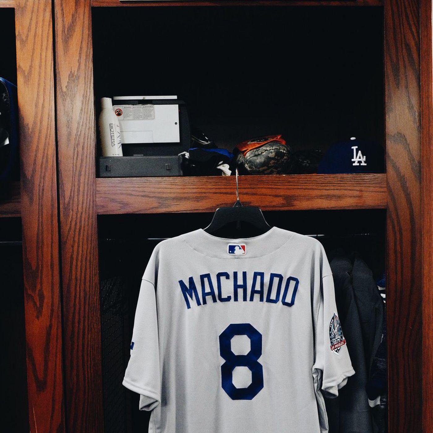 pretty nice a9891 1fc8a Dodgers 3B Manny Machado chose No. 8 for Lakers legend Kobe ...