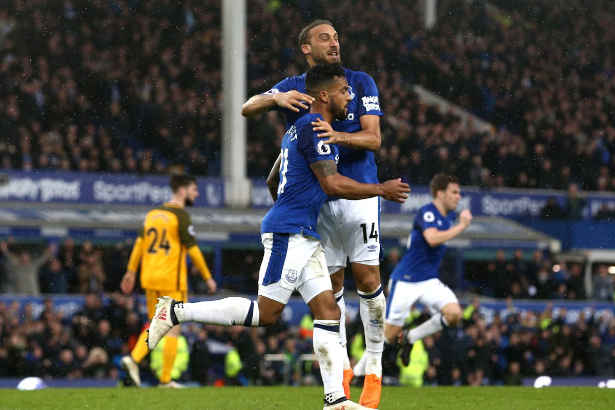 Everton striker Cenk Tosun delighted with second goal for Brighton win
