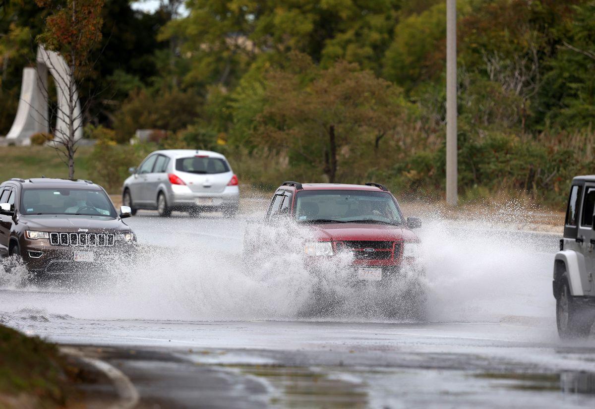 Hurricane Teddy Causes High Tide On Coast