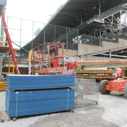 4:42 p.m. End of the third-base line grandstand -