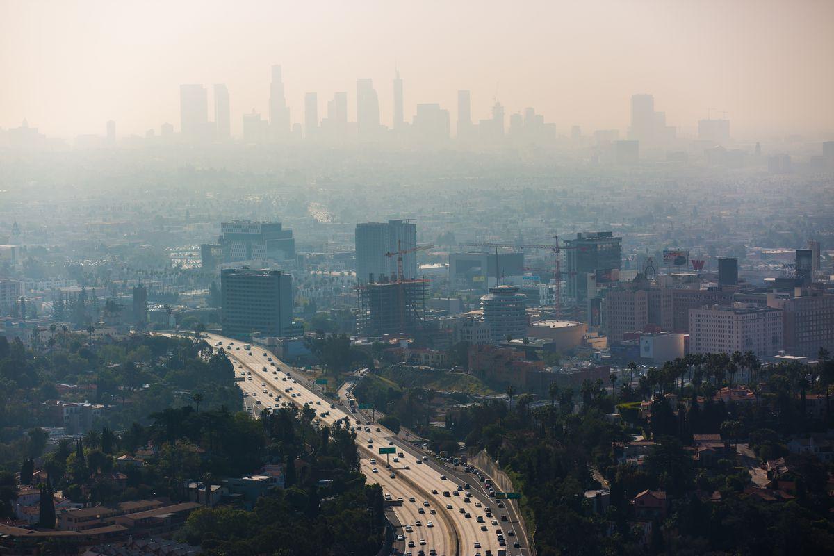 Smoggy view of LA