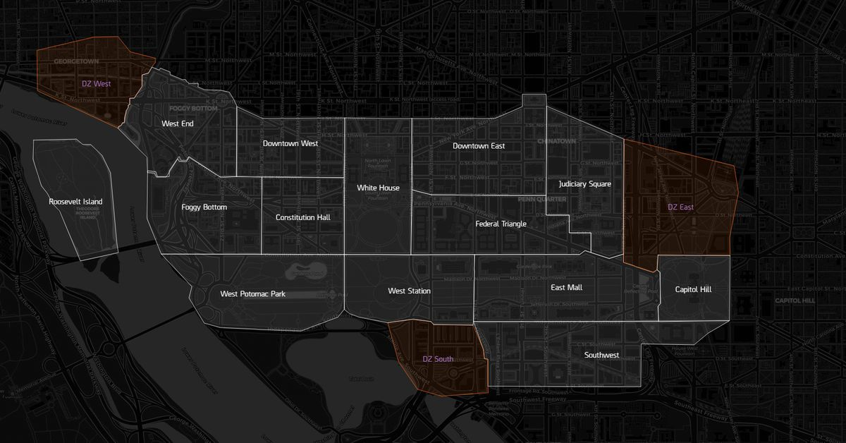 The Division 2 interactive map for finding hidden collectibles and