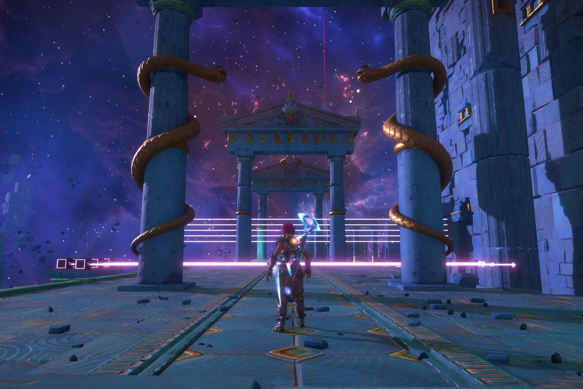 The entrance to the The Path to Erebos Vault of Tartaros walkthrough in Immortals Fenyx Rising