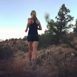 Arianne Brown runs on the mountain foothills last year.