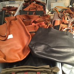 Large leather totes, $130