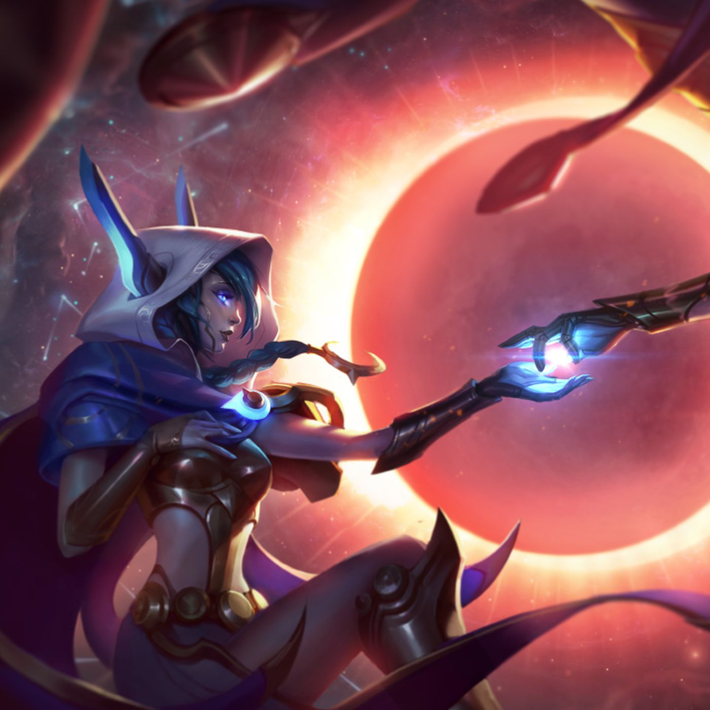 Xayah And Rakan Release Skins Cosmic Dusk And Dawn Join Cosmic