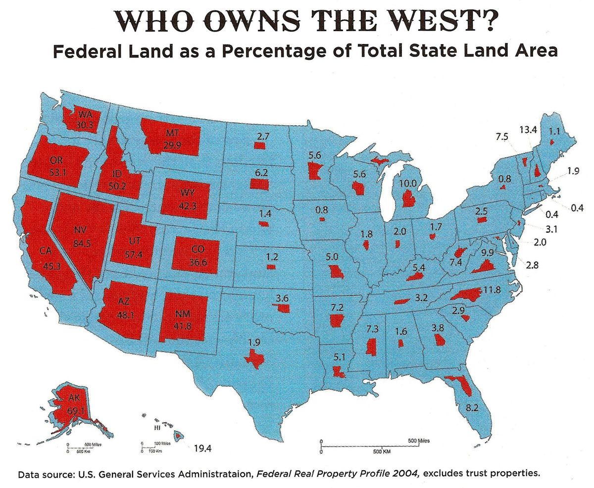 Map Of Federally Owned Land See how much of your state is owned by the federal government   Vox