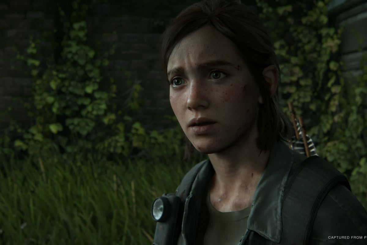 Protagonist Ellie as she appears in The Last of Us Part 2