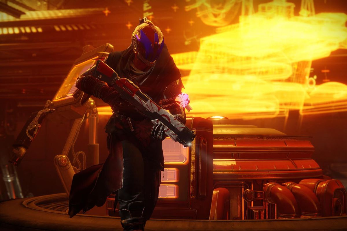 Destiny 2 - Warlock running in a Cabal base