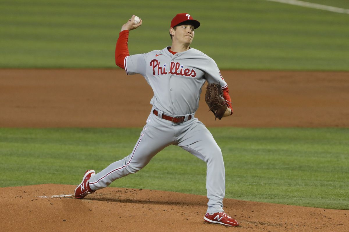 Philadelphia Phillies starting pitcher Spencer Howard (48) delivers a pitch against the Miami Marlins during the first inning at loanDepot Park.