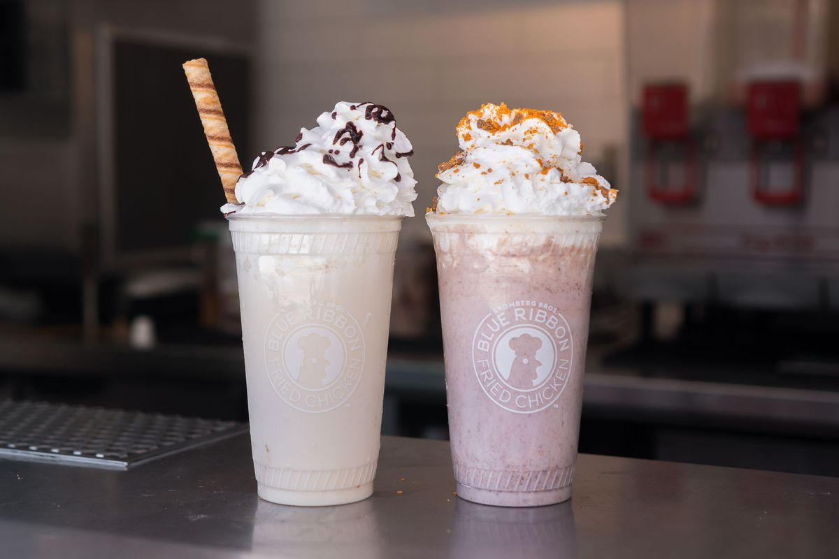 Shakedown Street and Hazelberry shakes at Blue Ribbon Fried Chicken