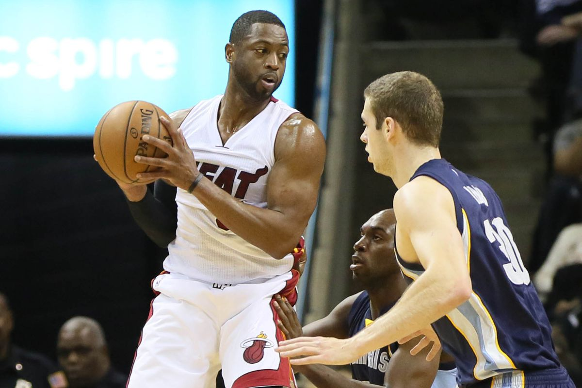 """Wade was using his new """"antigravity"""" shoes tonight."""