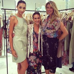 Head designer and creative director Nicky Zimmermann with models, all in Zimmermann