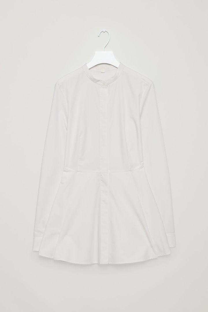 """""""Peplum cotton shirt."""""""