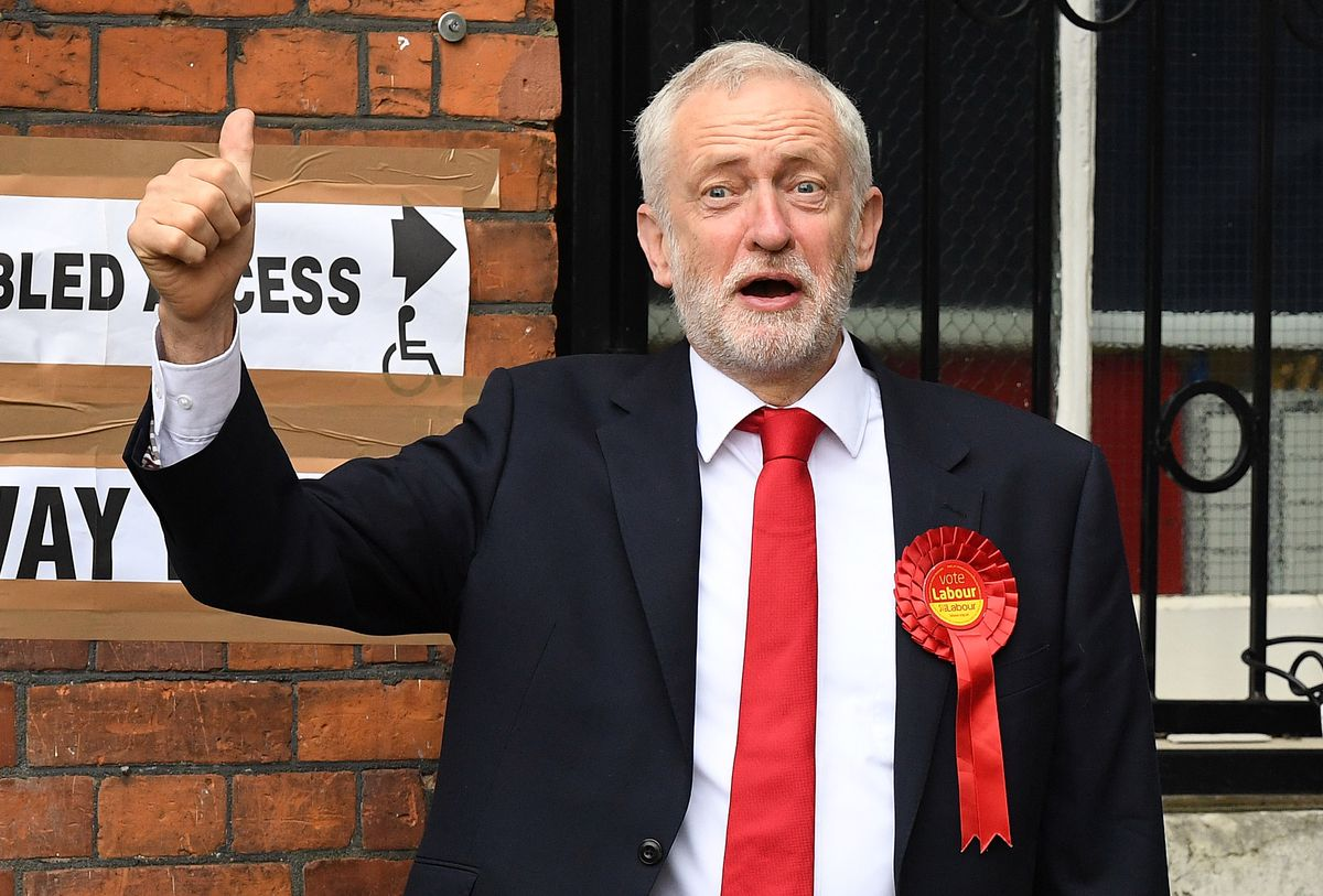 Leader Of The Labour Party Jeremy Corbyn Casts His Vote In The 2017 General Election