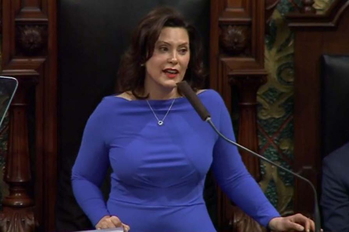 Gretchen Whitmer, seen here during her State of the State address, wants to boost funding for at-risk students.