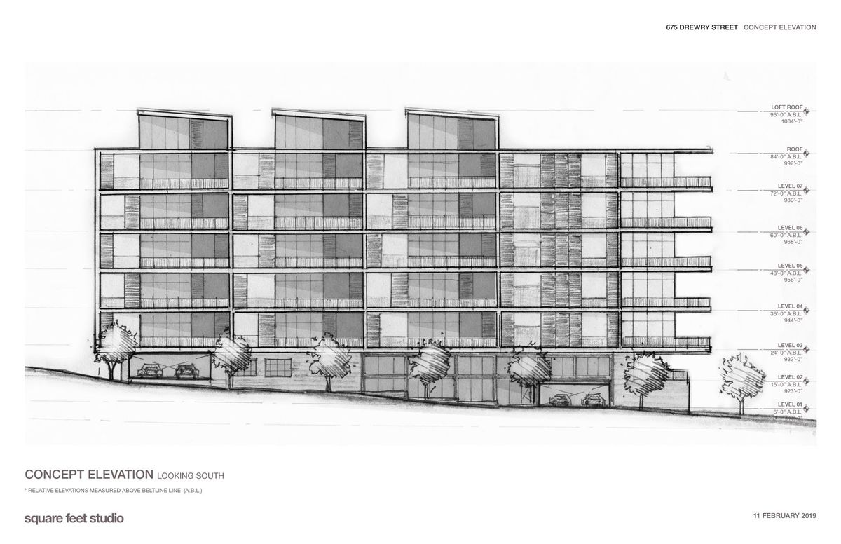 a blueprint of the proposed project