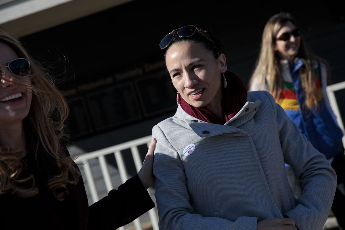 Kansas Congressional Candidate Sharice Davids Casts Her Vote In Midterm Election