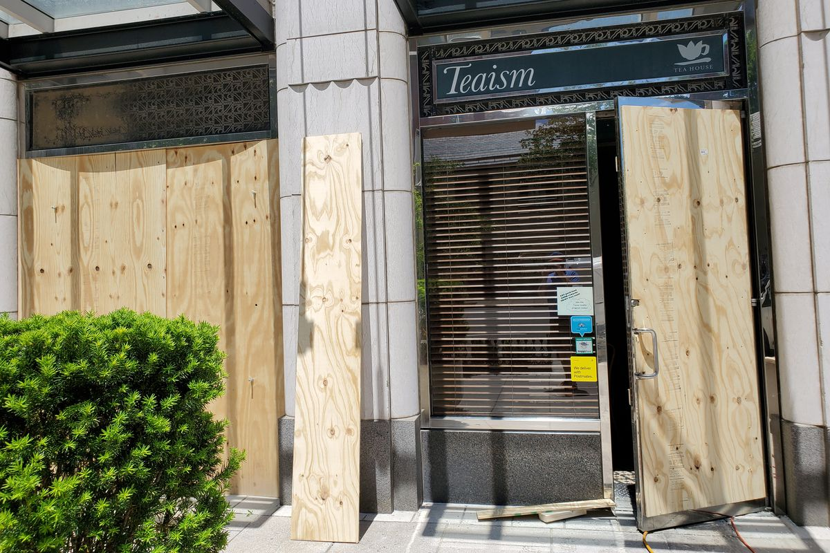 Teaism's Lafayette Park tea house suffered fire and water damage late Saturday night