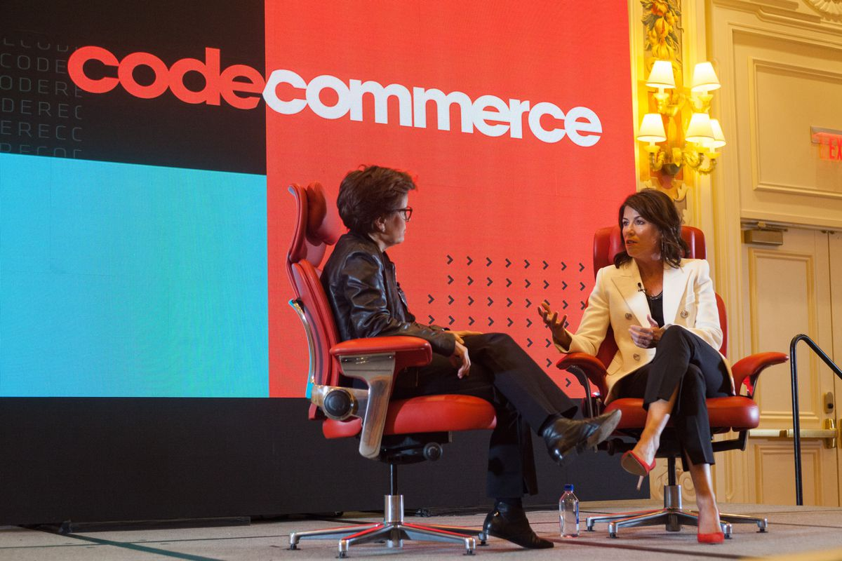 Hudson's Bay Company CEO Helena Foulkes onstage at An Evening With Code Commerce.