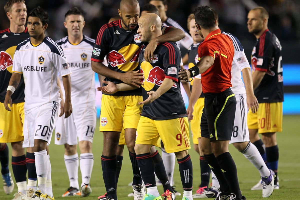 """""""Hey man, it's not like I shot him in the face with fireworks."""" -Luke Rodgers to Thierry Henry."""