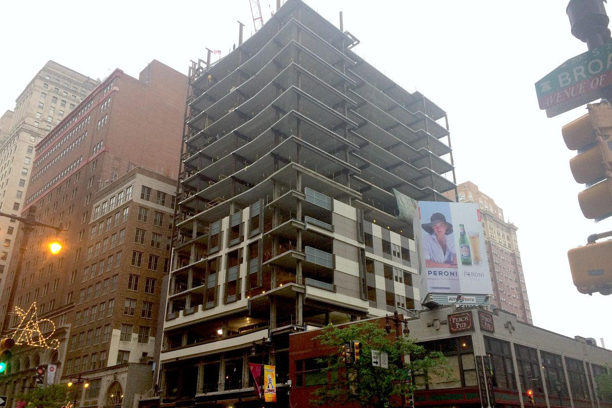 The Cambria Hotel On South Broad Has Topped Off At 15 Stories Tall Photo By Melissa Romero