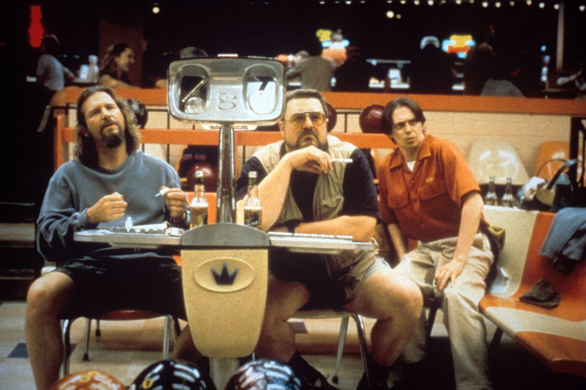 Jeff Bridges, John Goodman And Steve Buscemi In A Scene From The Movie The Big Lebowski