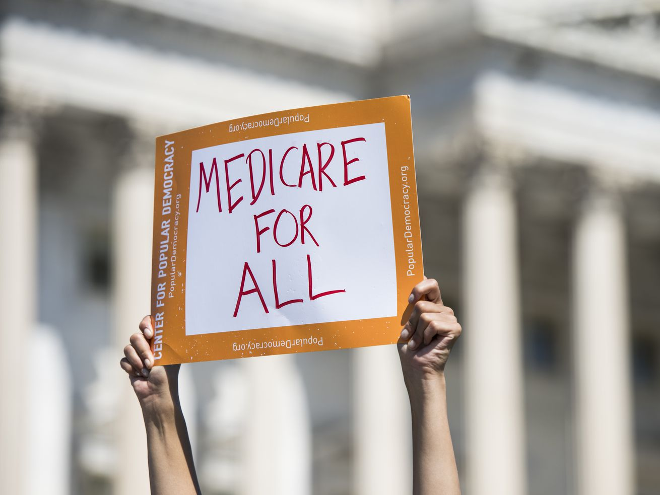 Progressive Democrats of America holds a news conference to announce the launch of a Medicare-for-all Caucus.
