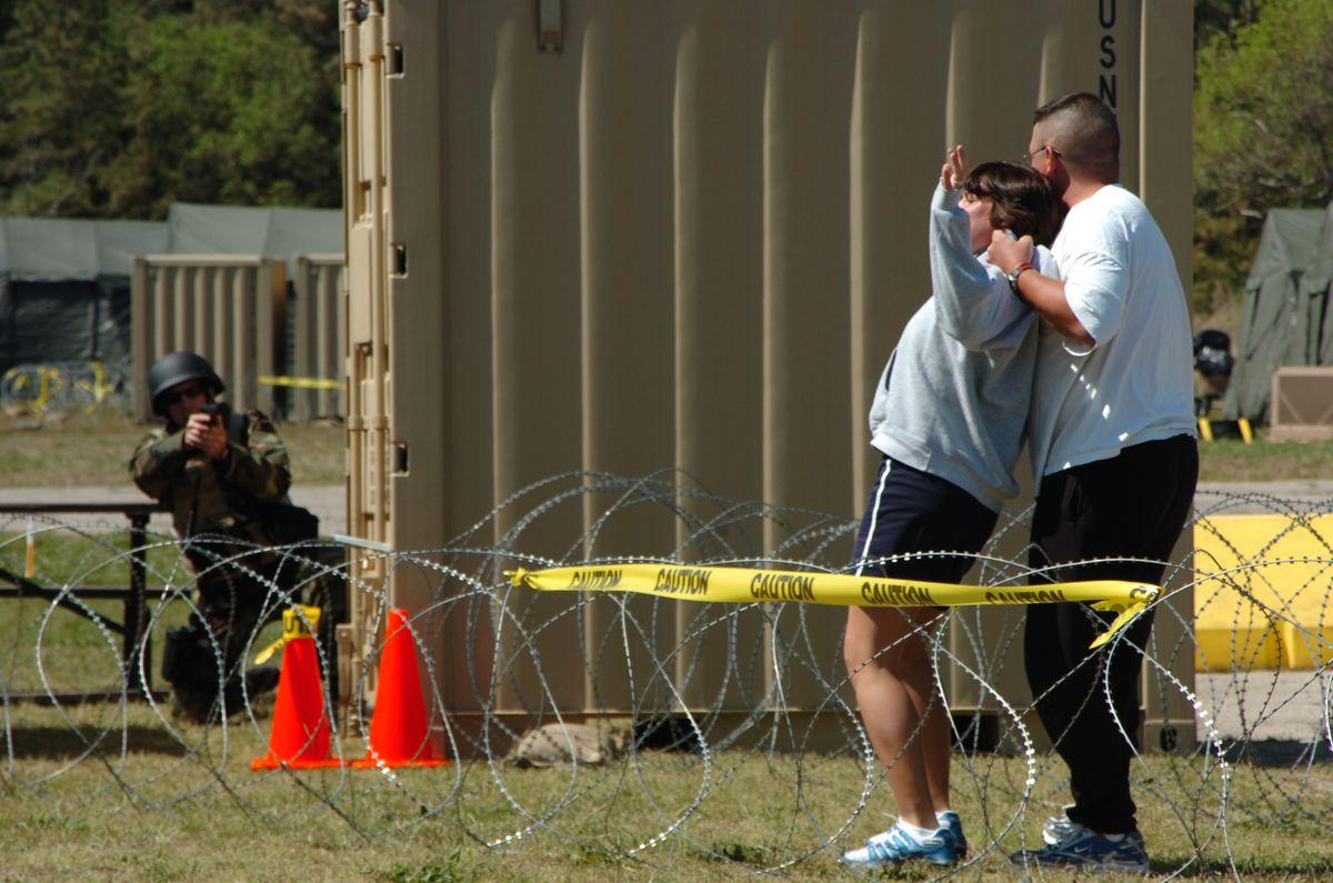 US navy hostage training