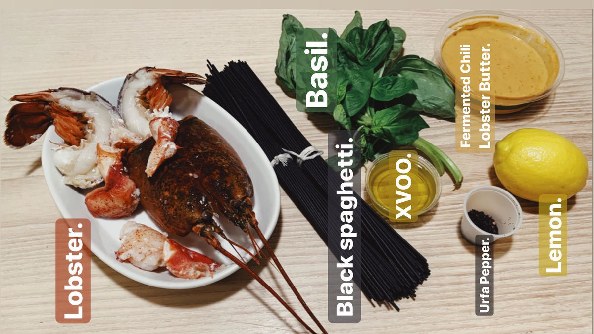 Lobster scampi meal kit from Prairie