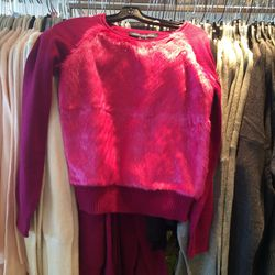 Furry sweater, size S, $30 (was $148)